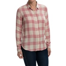 Lucky Brand Bungalow Shirt - Brushed Modal, Long Sleeve (For Women) in Pink Multi - Closeouts