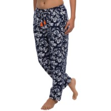 Lucky Brand Bushed-Flannel Lounge Pants (For Women) in Navy Floral - Closeouts