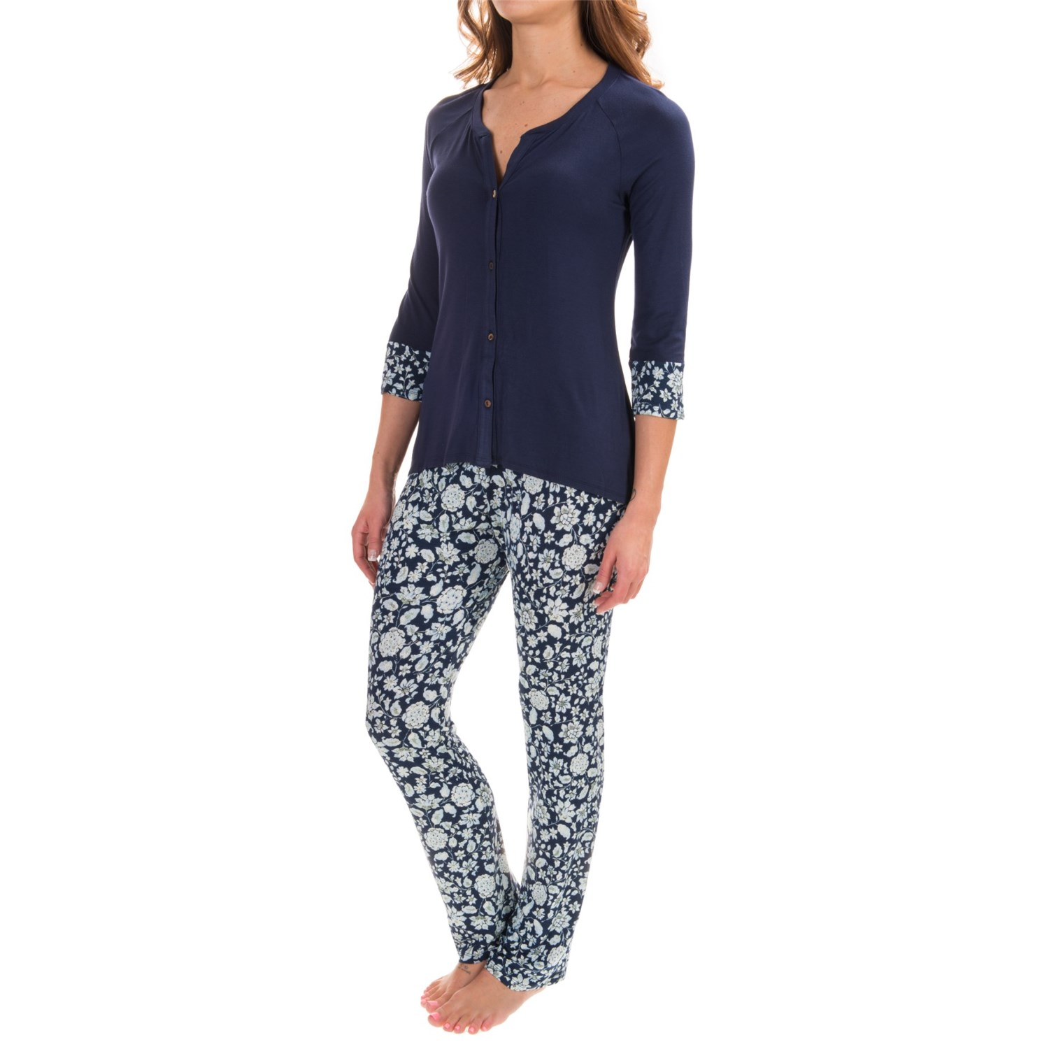 Lucky Brand Button-Down Pajamas (For Women)