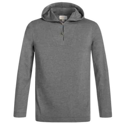 Lucky Brand Buttoned Hoodie Shirt - Long Sleeve (For Little Boys) in Flint - Closeouts