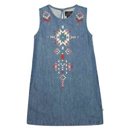 Lucky Brand Cali Denim Dress - Sleeveless (For Big Girls) in Lucy Wash - Closeouts