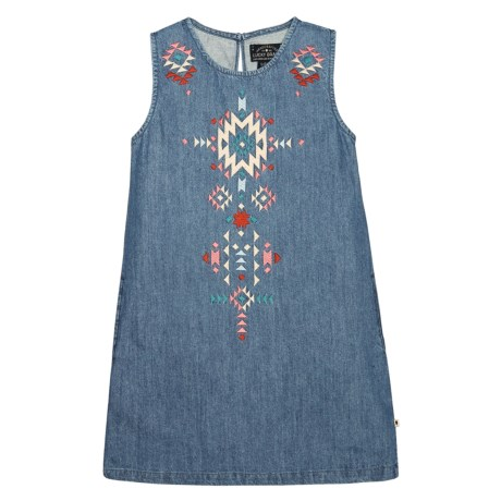 Lucky Brand Cali Denim Dress - Sleeveless (For Big Girls) in Lucy Wash