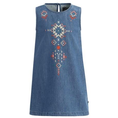 Lucky Brand Cali Denim Dress - Sleeveless (For Little Girls) in Lucy Wash