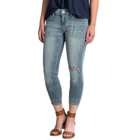 Lucky Brand Charlie Distressed Capri Jeans - Low Rise (For Women) in Carefree