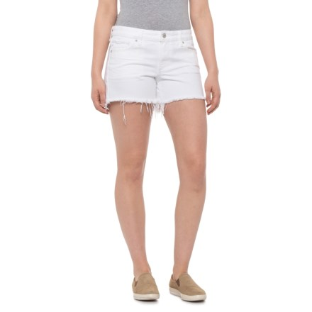 570e3cde9141a Lucky Brand Clean White Cutoff Shorts (For Women) in Clean White - Closeouts