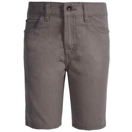 Lucky Brand Club House Jean Shorts (For Big Boys) in Charcoal - Closeouts