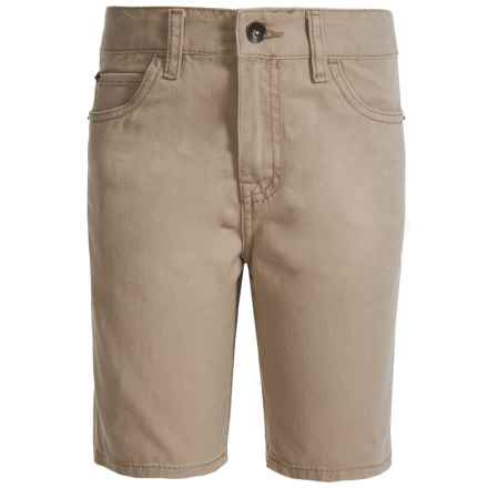 Lucky Brand Club House Jean Shorts (For Big Boys) in Light Beige - Closeouts