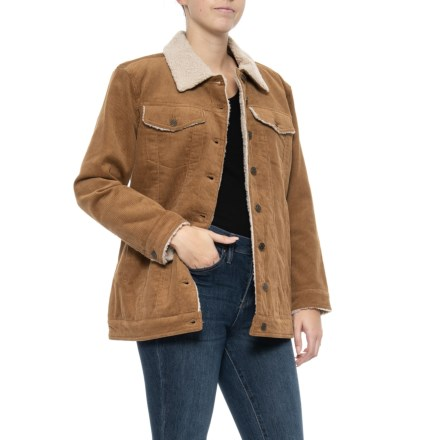 a8db78a092b Lucky Brand Corduroy Trucker Jacket - Sherpa Lined (For Women) in Camel -  Closeouts