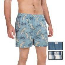 Lucky Brand Core Boxers - 3-Pack (For Men) in Silver Birch Plaid/Bering Sea/Citadel Print - Closeouts