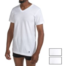 Lucky Brand Core Cotton T-Shirt - V-Neck, 3-Pack, Short Sleeve (For Men) in White - Closeouts