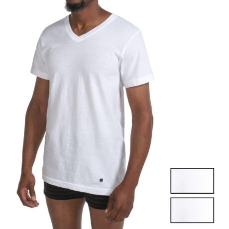 Lucky Brand Core Cotton T-Shirt - V-Neck, 3-Pack, Short Sleeve (For Men) in White