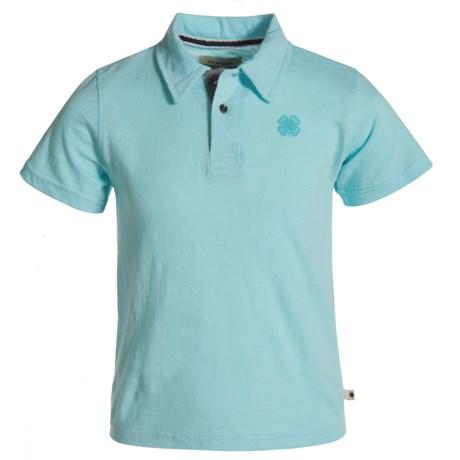 Lucky Brand Core Slub Polo Shirt - Short Sleeve (For Little Boys) in Plume