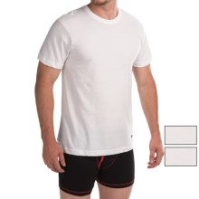 Lucky Brand Cotton Crew T-Shirt - 3-Pack, Short Sleeve (For Men) in White - Closeouts