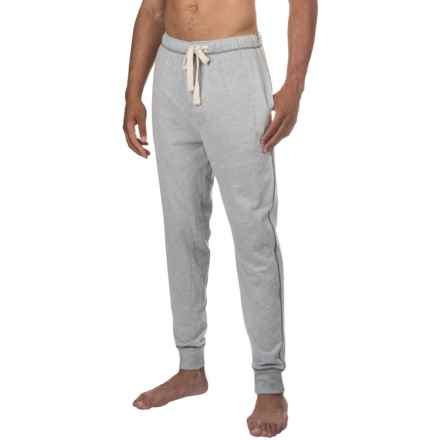 Lucky Brand Cotton Knit Joggers (For Men) in Grey Heather - Closeouts