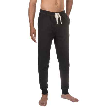 Lucky Brand Cotton Knit Joggers (For Men) in Jet Black - Closeouts