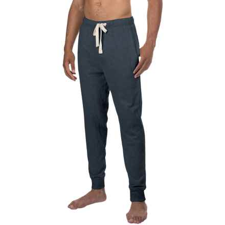 Lucky Brand Cotton Knit Joggers (For Men) in Salute Heather - Closeouts