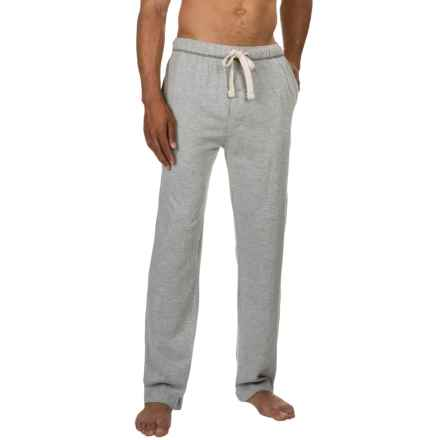 Lucky Brand Cotton Knit Pants (For Men) in Grey Heather - Closeouts