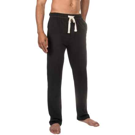 Lucky Brand Cotton Knit Pants (For Men) in Jet Black - Closeouts