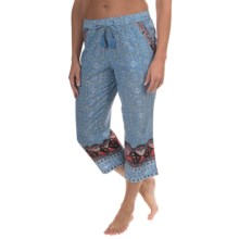 Lucky Brand Cotton Lawn Lounge Pants - Cotton (For Women) in Hampton Stripe Blue - Closeouts