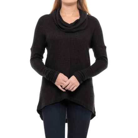 Lucky Brand Cowl Neck Thermal Shirt - Long Sleeve (For Women) in Black - Closeouts