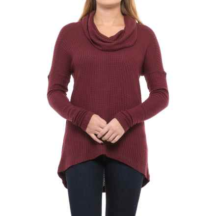 Lucky Brand Cowl Neck Thermal Shirt - Long Sleeve (For Women) in Port Royal - Closeouts