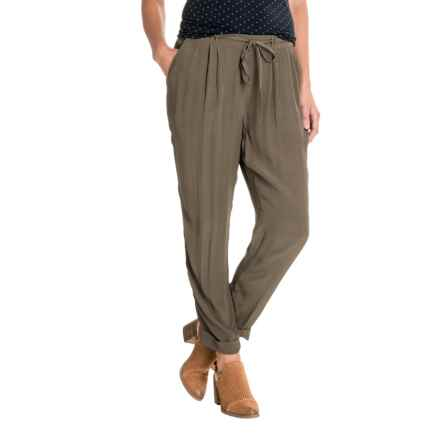 Lucky Brand Cuffed Crepe Pants (For Women) in Olive - Closeouts