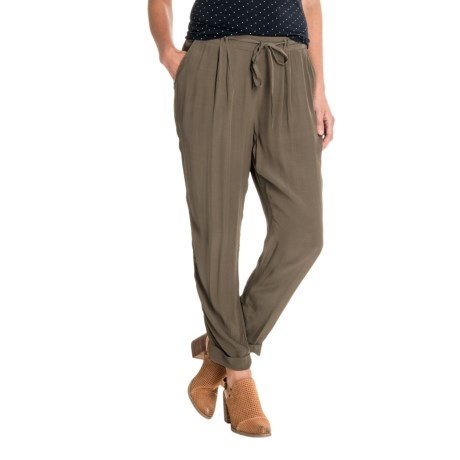 Lucky Brand Cuffed Crepe Pants (For Women) in Olive