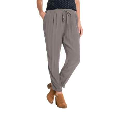 Lucky Brand Cuffed Crepe Pants (For Women) in Pewter - Closeouts