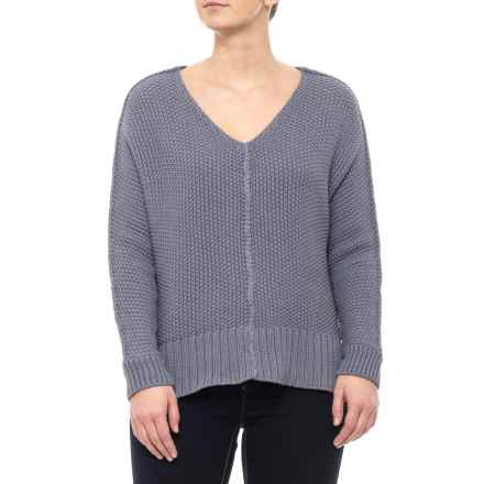 fc18e667528014 Clearance. Lucky Brand Dusty Iris Pullover Sweater - V-Neck (For Women) in  Dusty