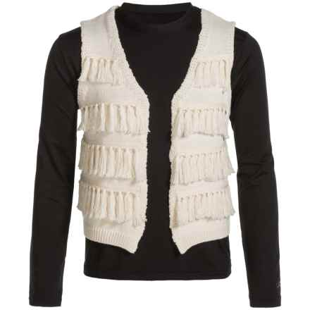 Lucky Brand Elise Sweater Vest (For Big Girls) in Biscotti - Closeouts
