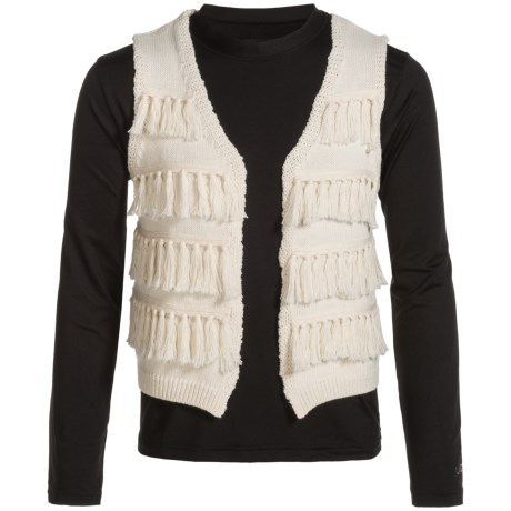 Lucky Brand Elise Sweater Vest (For Big Girls) in Biscotti