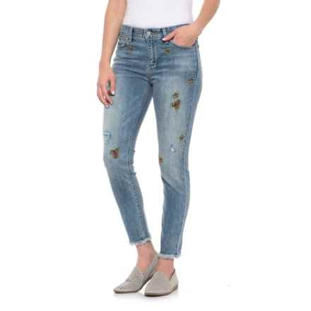 Lucky Brand Kids Baby Girl's Zoe Jeans With Embroidery In Blue Wash  (Toddler) Blue