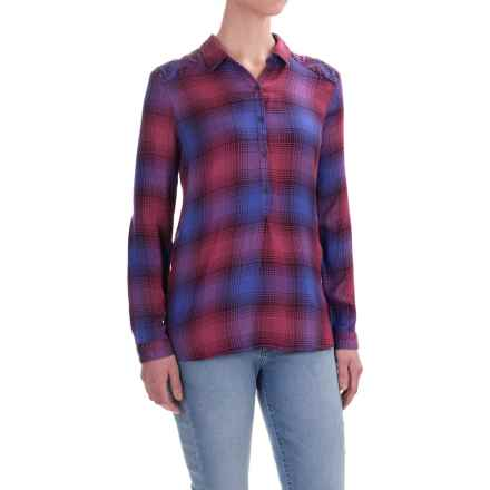 Lucky Brand Embroidered Shirt - Long Sleeve (For Women) in Purple Multi - Closeouts