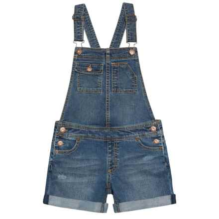 Lucky Brand Essie Overalls (For Big Girls) in Ada Wash - Closeouts