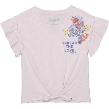Lucky Brand Esther T-Shirt - Short Sleeve (For Big Girls) in Pale Lilac - Closeouts