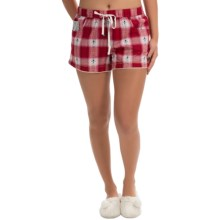Lucky Brand Flannel Boxer Shorts (For Women) in Picnic Plaid - Closeouts
