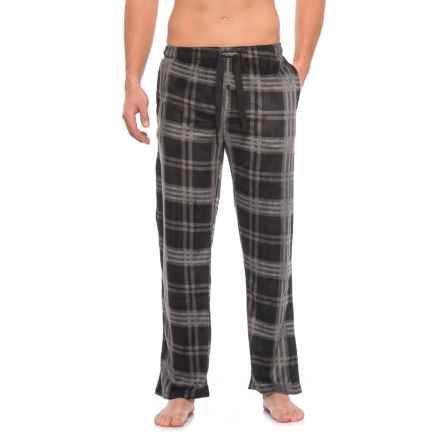 Lucky Brand Fleece Pajama Pants (For Men) in Jet Black - Closeouts