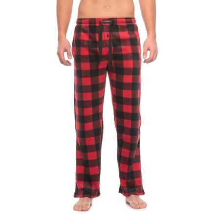 Lucky Brand Fleece Pajama Pants (For Men) in Red/Black Check - Closeouts