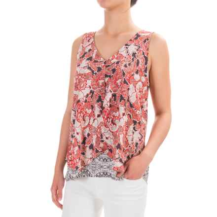 Lucky Brand Floral Tank Top - Chiffon (For Women) in Multi - Closeouts