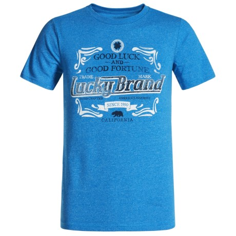 Lucky Brand Fortunate T-Shirt - Short Sleeve (For Big Boys) in Skydiver