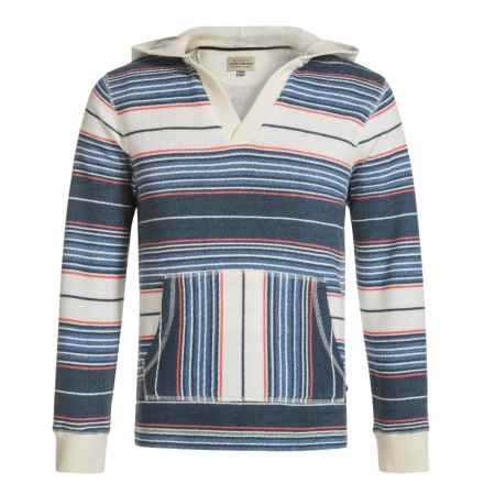 Lucky Brand French Terry Striped Hoodie (For Big Boys) in Birch - Closeouts