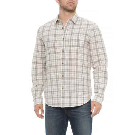 Lucky Brand Heritage Plaid One Pocket Shirt - Long Sleeve (For Men) in White/Heather Grey - Closeouts
