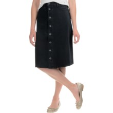 Lucky Brand High-Rise Button-Front Skirt (For Women) in Black Overdye - Overstock