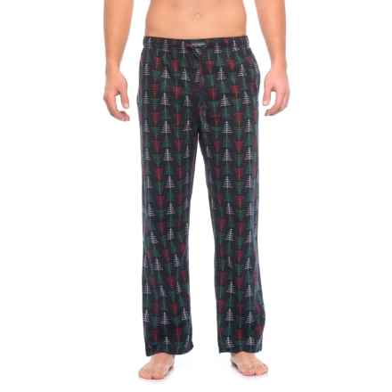 Lucky Brand Holiday Print Flannel Pajama Pants (For Men) in Dark Sapphire Print - Closeouts