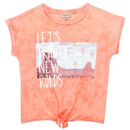 fa53b2f6c Lucky Brand Jacinda T-Shirt - Short Sleeve (For Big Girls) in Salmon