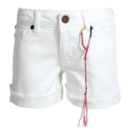 Lucky Brand Jenna Denim Shorts (For Big Girls) in White - Closeouts