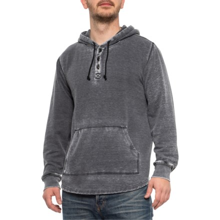 828c82d499969 Clearance. Lucky Brand Jet Black Venice Burnout Shasta Hoodie (For Men) in  Jet Black