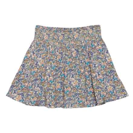 Lucky Brand Katie Printed Challis Skirt (For Little Girls) in Biscotti - Closeouts