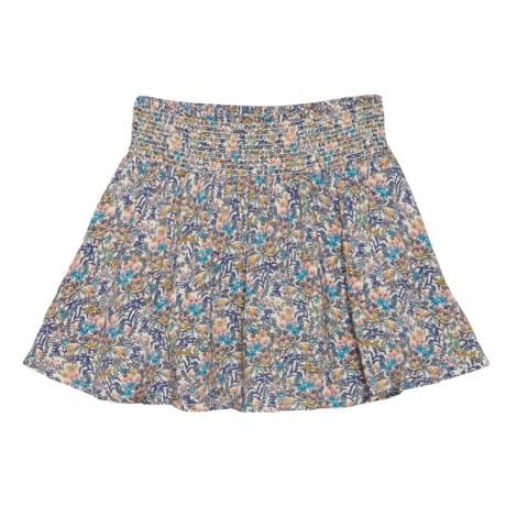 Lucky Brand Katie Printed Challis Skirt (For Little Girls) in Biscotti