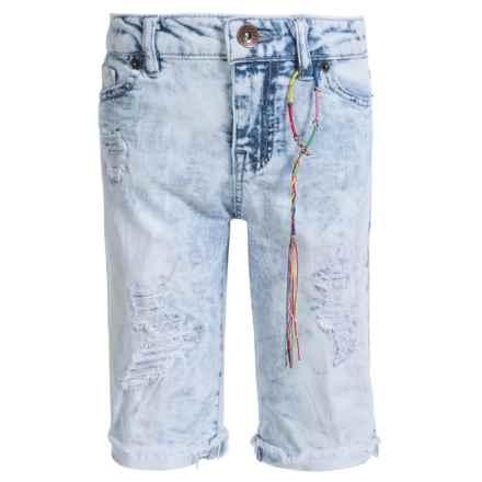 Lucky Brand Kendall Bermuda Jean Shorts (For Little Girls) in Cloud Bleach - Closeouts